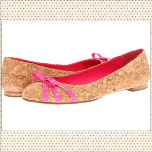 Kate spade never worn Tiny Cork ballet shoes